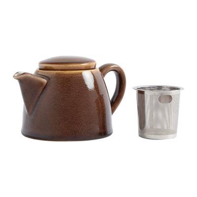 Teekanne Olympia Kiln aus handbemaltem Porzellan SA281 mit Edelstahlsieb