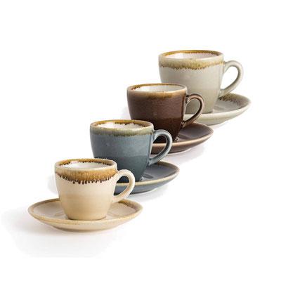 Espresso Tasse GP476 Olympia Kiln aus handbemaltem Porzellan. In verschiedenen Größen und Farben erhältlich.