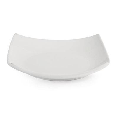 Whiteware Teller in quadratischer Form in sehr robuster Qualität mit langer Lebensdauer