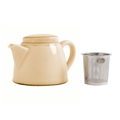 Teekanne Olympia Kiln aus handbemaltem Porzellan SA280 mit Edelstahlsieb