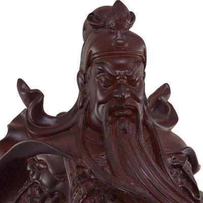 Detailansicht Guan Yu / Guan Gong / Kwang Kong Gesicht