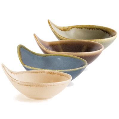 Dipschälchen und Gewürzschälchen mit Griff Olympia Kiln aus handbemaltem Porzellan GP352. In verschiedenen Farben erhältlich.