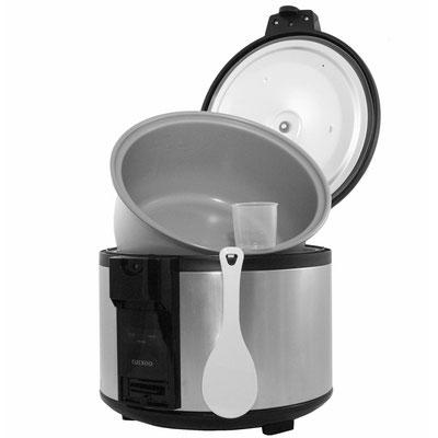 Cuckoo Reiskocher SR-4600 (4,6 Liter) - Reiskocher mit Zubehör und geöffnetem Deckel