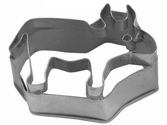 Ausstecher aus rostfreiem Stahl mit Ochsen-Motiv zum Backen oder Dekorieren