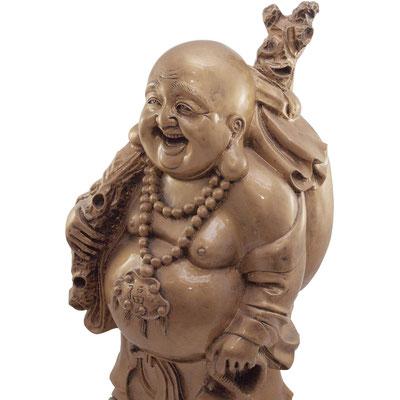 Seitenansicht von Buddha. Bringt Glück und Geld ins Haus.