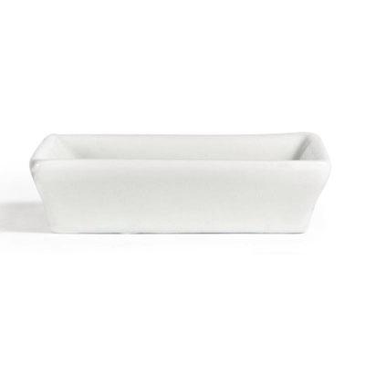 Whiteware Schale mit flachem Rand für Gewürze, Saucen, Dips oder Beilagen. Modernes Design für hohe Ansprüche.