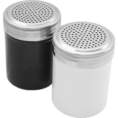 Pulverbeschichtete Gewürzstreuer in Schwarz oder Weiß