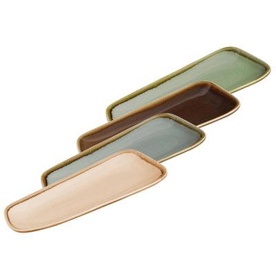 Rechteckiger Viereckteller Olympia Kiln CP948. In verschiedenen Größen und Farben erhältlich.