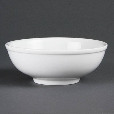 Runde Schale von Olympia aus weißem Porzellan C329 für chinesische Nudeln