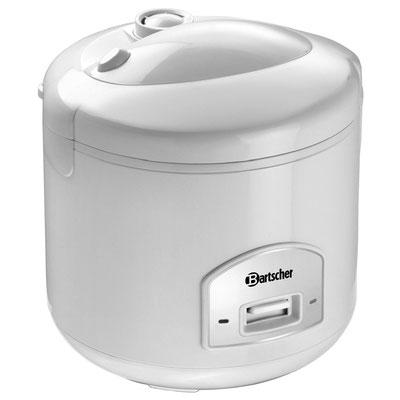 Kleiner Reiskocher von Bartscher mit 1,8 Liter Inhalt - Aus weißem Kunststoff
