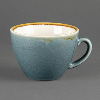 Kaffee Tasse Olympia Kiln aus handbemaltem Porzellan GP348. In verschiedenen Größen und Farben erhältlich.