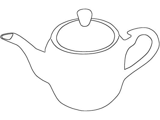 Darstellung Teekanne mit hohem Deckel