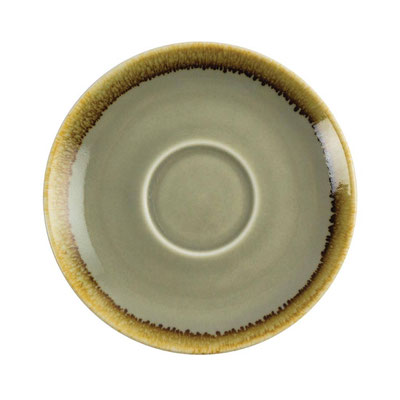 Kaffee Untertasse Olympia Kiln aus handbemaltem Porzellan GP479. In verschiedenen Farben erhältlich.