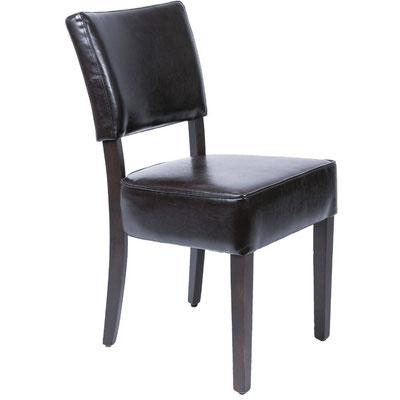 Klassischer Holzstuhl GF957 mit schwarzem Kunstleder für den Innenbereich