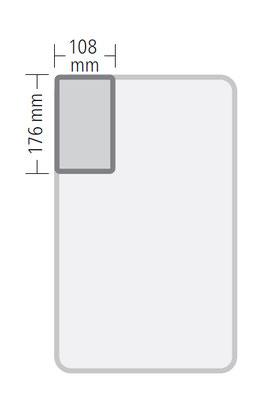 Genormte Abmessungen eines GN 1/9 Behälters aus Polypropylen