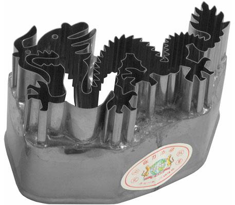 Ausstecher aus rostfreiem Stahl mit Drachen-Motiv zum Backen oder Dekorieren
