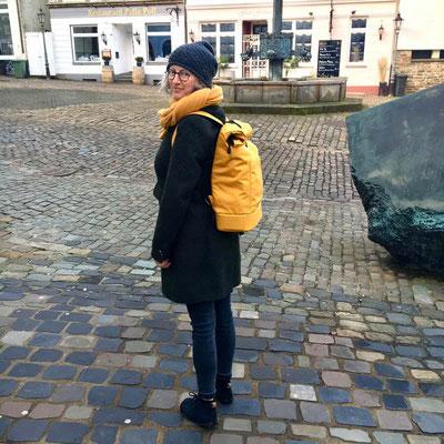 Gelber schlichter Rucksack