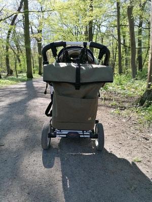Rucksack für Kinderwagen mit Aufhängung