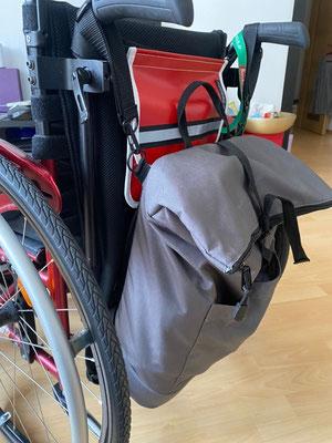 Wickelrucksack für Rollstuhlfahrer