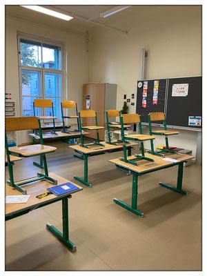 Auf unsere großen und hohen Klassenräume sind wir besonders stolz.