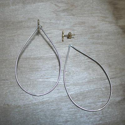 Boucles d'oreilles ADAPTABLES - combinaison Gaufrées + Gouttes