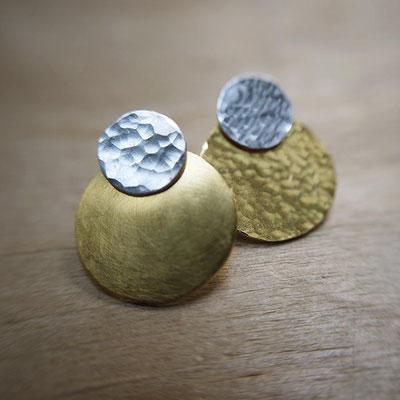 Boucles d'oreilles ADAPTABLES - combinaison Pastilles + Disques