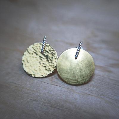 Boucles d'oreilles ADAPTABLES - combinaison Gaufrées + Disques