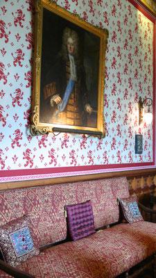 Château de Picomtal, Hautes Alpes, intérieur, salon, décoration