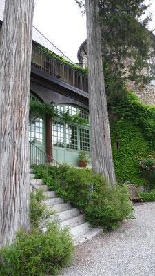 Château de Picomtal, Hautes Alpes, véranda Louisiane, jardin