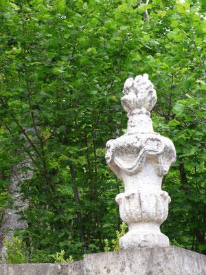 Château de Picomtal, Hautes Alpes, jardin à la Française, ornement