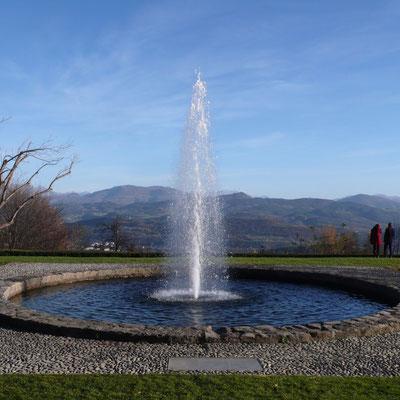 Domaine de Charance, panorama, Gap, Hautes Alpes, jet d'eau