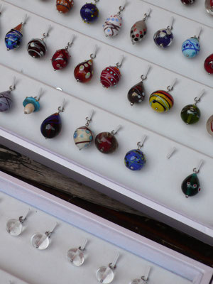 Pâquerette Créations, bijoux, perles de verre, Marché de Noël de Gap, Hautes Alpes