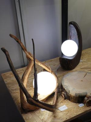 Lux Lignum, lampes, bois, pièce unique, Journées Européennes des Métiers d'Art