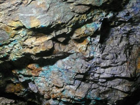 Mine du Fournel, galerie, roches, texture