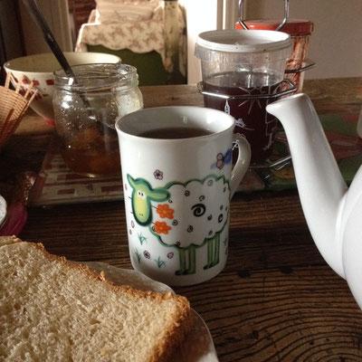 Cantal, Salesse, petit-déjeuner