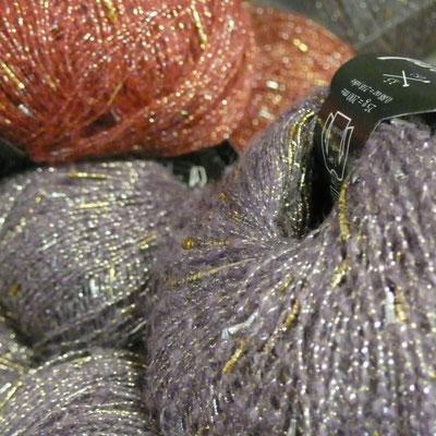 Les Pelotes, Gap, laine lurex, détail