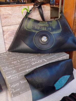 Ratatam, sacs, chambre à air recyclée, Marché de Noël de Gap
