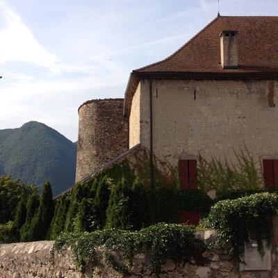 Château de Montmaur, détail, extérieur, Hautes Alpes, Montmaur