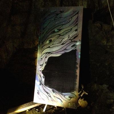 Mine du Fournel, triptyque, Djob, artiste, résidence