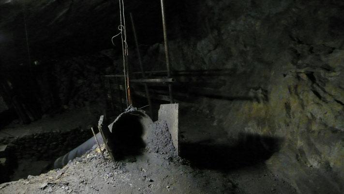 Mine du Fournel, galerie, Hautes Alpes