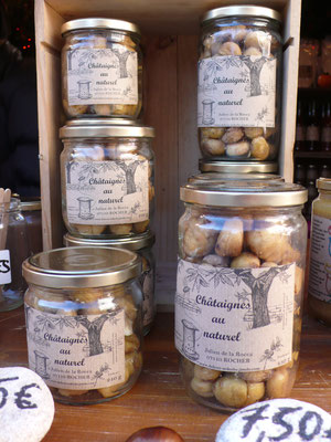 Délices d'Ardèche, Julien de la Rocca, Marrons au naturel, Marché de Noël de Gap