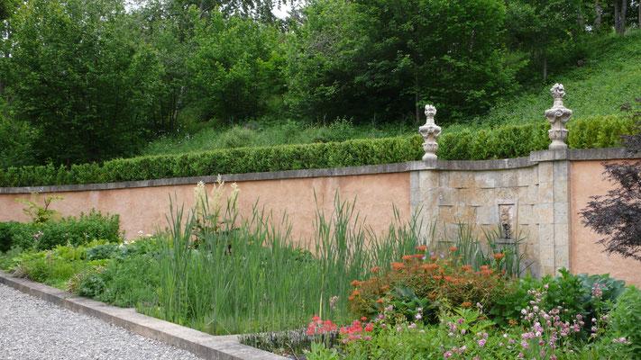 Château de Picomtal, Hautes Alpes, jardin à la Française,