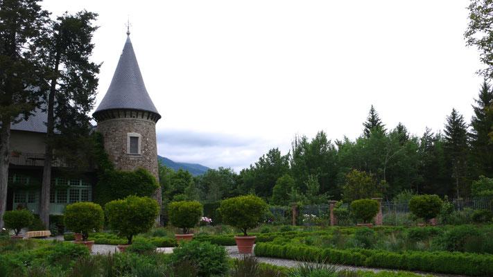Château de Picomtal, Hautes Alpes, tour, jardin