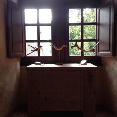Château de Montmaur, exposition, oiseaux, sculptures, Vanni, artiste