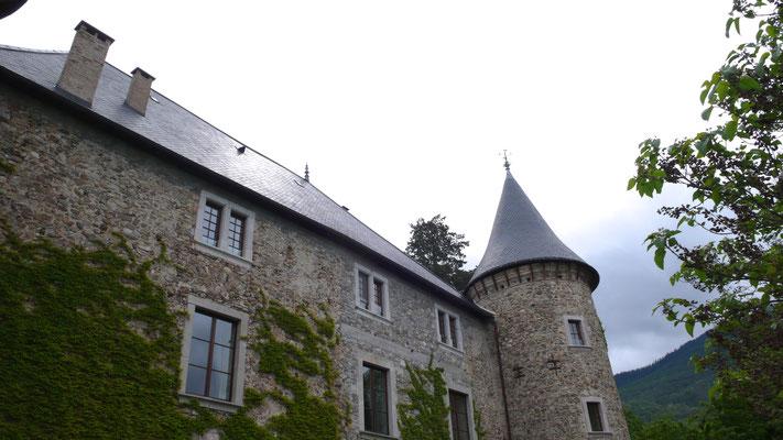 Château de Picomtal, Hautes Alpes, parvis, entrée