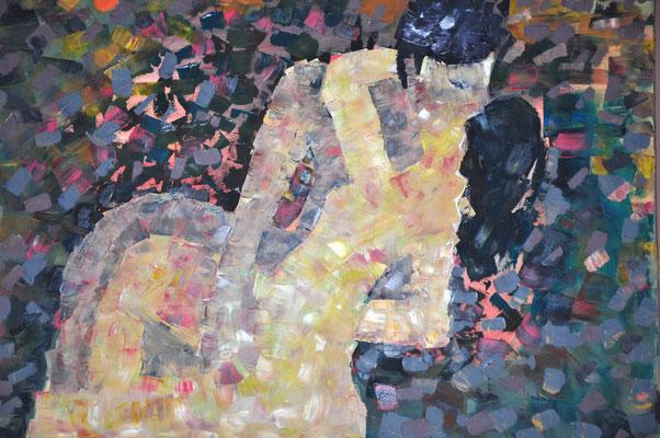 Liebespaar, B 100 x H 70 cm, Öl auf Leinwand, Privatbesitz