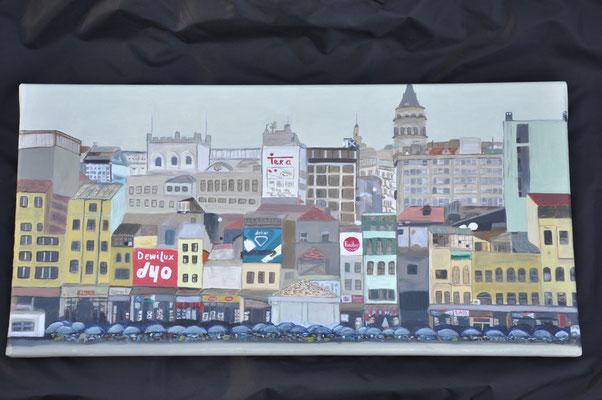 Fischmarkt am Bosporus, B 60 x H 30, Öl auf Leinwand, 850,-- EUR