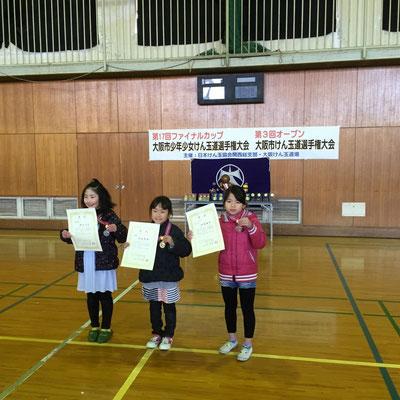 小学1・2年の部 表彰