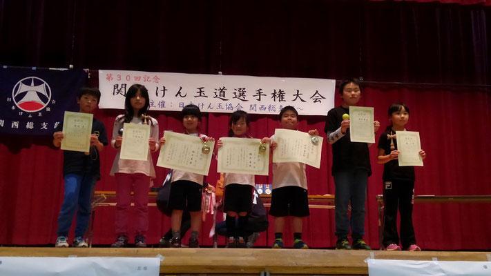 個人の部 10級~5級の部 表彰