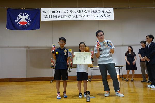 Aクラス 表彰者